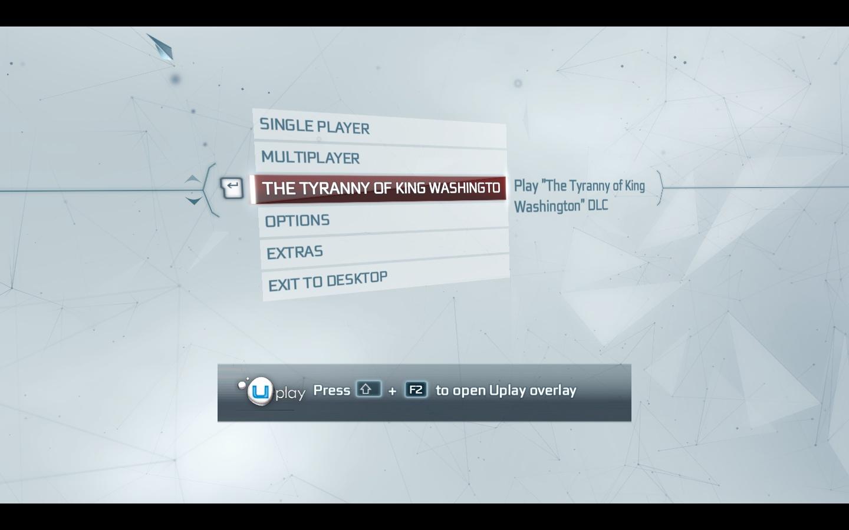P30DAR- گزینه اجرای DLC جرج واشنگتن بازی AC3