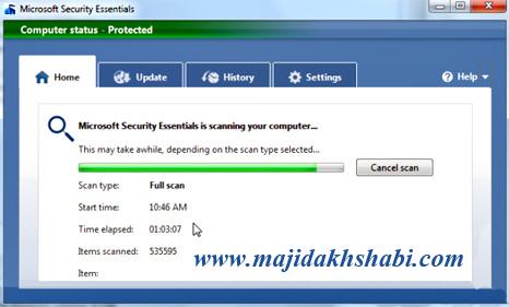 نرم افزار آنتی ویروس مایکروسافت