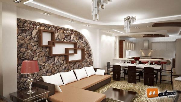 نمونه کار طراحی منزل مسکونی از ناتک