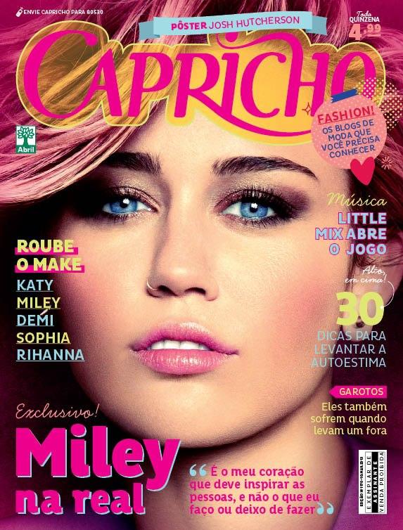 کاور جدید مایلی روی مجله capchiro