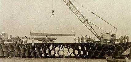 پل بعثت بر روی رودخانه اروند رود 1365