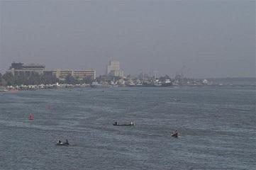 نمایی از رودخانه اروند(شط العرب)در نزدیکی شهر بصره