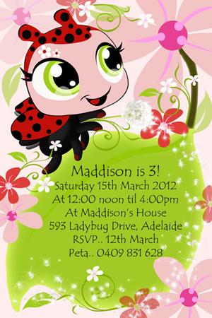 دانلود-کارت-دعوت جشن تولد کفشدوزکی ladybug invitations download