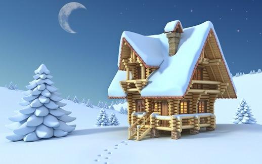 snow house white - برف خانه سفید