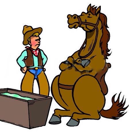 you can't make a horse drink - اسب از خودن آب سر باز زدن