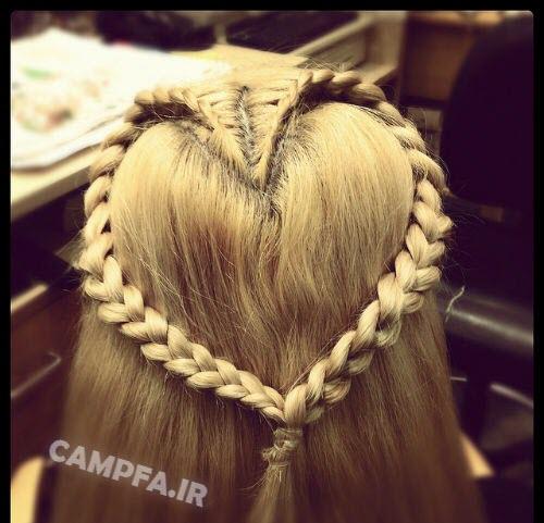 مدل بافت مو طرح قلب جدید - www.campfa.ir