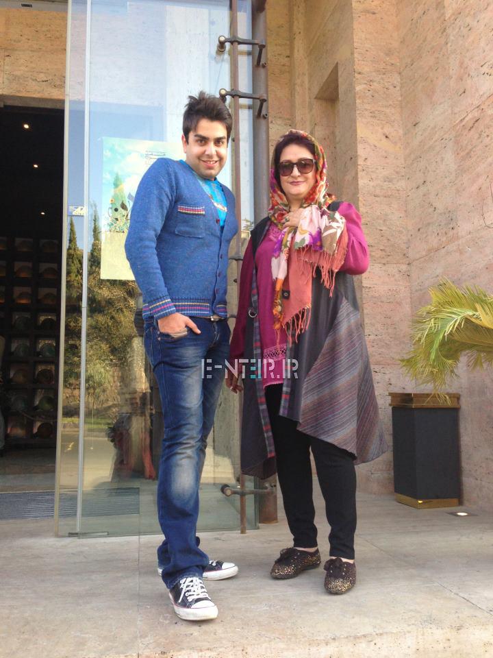 عکس جدید مریم امیر جلالی در پشت صحنه برنامه خوشا شیراز