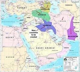 طرح تجزیه ایران به پنج قسمت