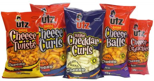 Utz cheese puffs - cheese curls - cheese balss - crunchies - white cheese puffs