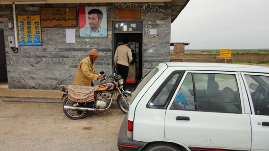 لاک پشت- پمپ بنزین مرز اینچه برون- محمود احمدی نژاد