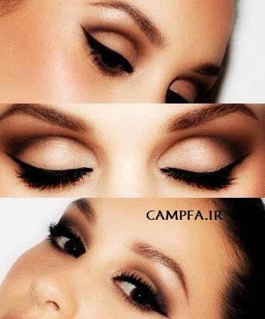 مدل های جدید آرایش چشم و سایه چشم  www.campfa.ir