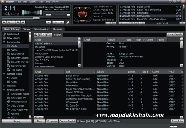 محبوب ترین نرم افزار پخش موسیقی دنیا