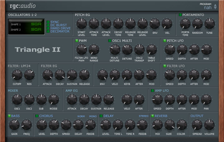 دانلود vst بسیار زیبای Triangle II با صداهای پد (pad)