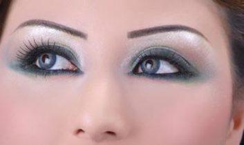 مدل سایه چشم عربی مدل سایه چشم خلیجی 2013 ابرو خلیجی سبز ومشكی
