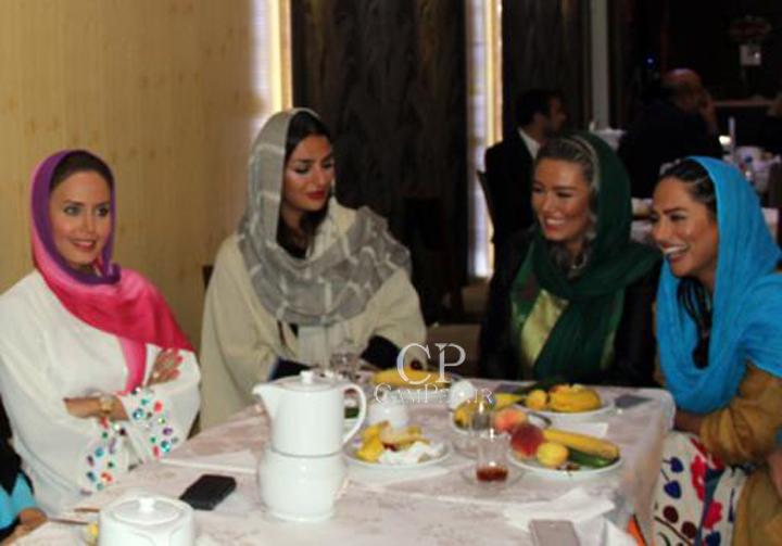 سمانه پاکدل سحر قریشی و الناز شاکردوست در مراسم پا گشایی عقد فرزاد حسنی