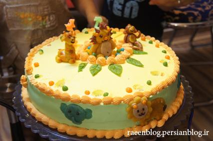 کیک تولد دوسالگی رایین