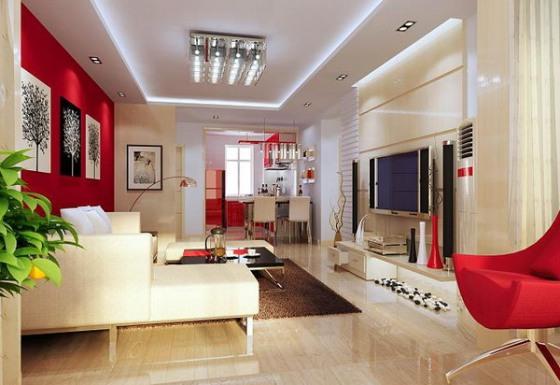 اتاق خواب با رنگ قرمز