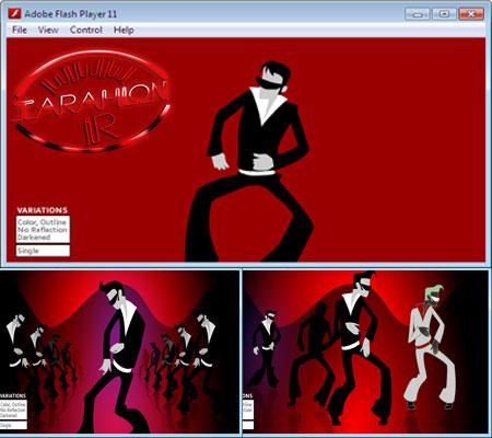 سورس فلش رقص جکسون