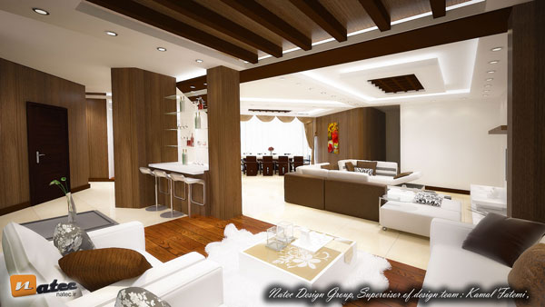نمونه کار طراحی و اجرای منزل مسکونی در اصفهان از گروه طراحی ناتک