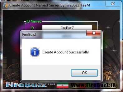 Create Account Named Server By FireBuzZ TeaM Screeen33333