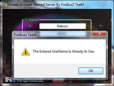 Create Account Named Server By FireBuzZ TeaM Screen44