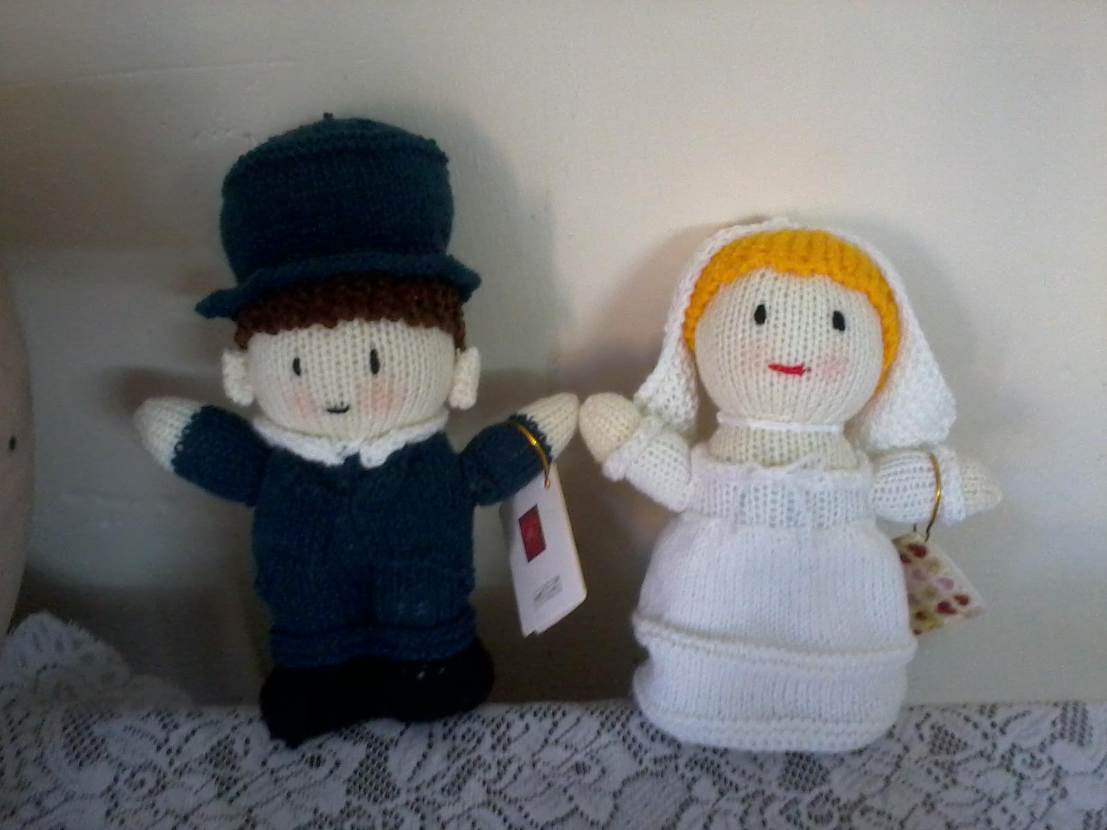 عروسک بافتنی عروس و داماد