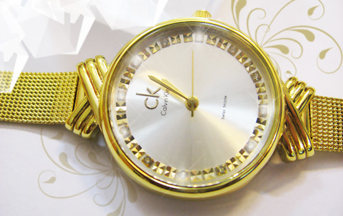 خرید ساعت زنانه ck نگین دار