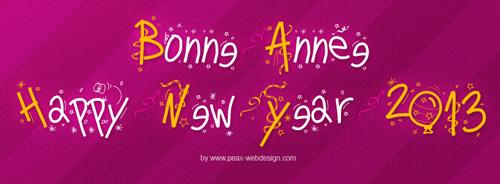 دانلود فونت انگلیسی pw happy new year