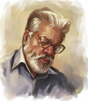 دانلود پرتره و تصویر و عکس دکتر حسین محمدزاده صدیق- نقاش مرتضی یزدانی دینانی
