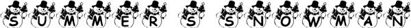 فونت summers_snowman