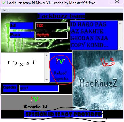 hackbuzz-team id maker v1.1 coded by monster996@n.c Khata2