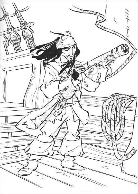 pirates of the caribbean coloring page -