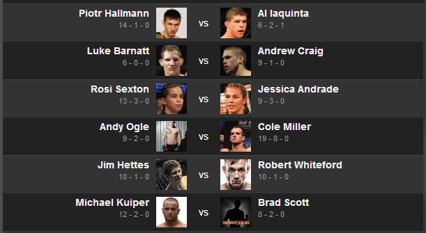 اطلاعات و مسابقات UFC Fight Night 30 : Machida vs. Munoz به تاریخ 10.26.2013