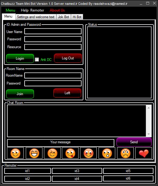 Chatbuzz Team Mini Bot Server named.ir Version 1.0 by rasol@n.c and rasolahwazi@n.c 8787487878