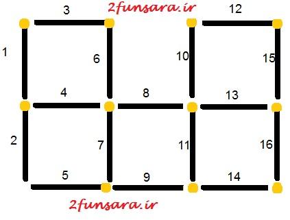 معمای ریاضی چوب کبریت بازی هوش طوفان سرا 2funsara