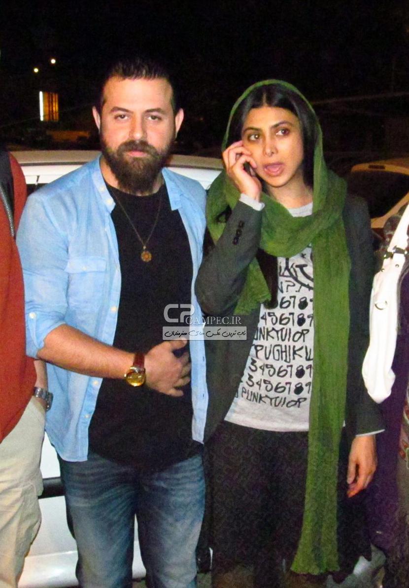 آزاده صمدی و همسرش هومن سیدی