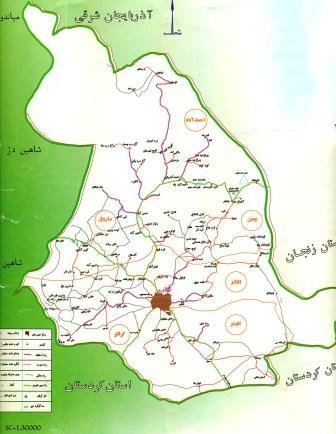 Takab_Roads_Map_نقشه_راههای_تکاب