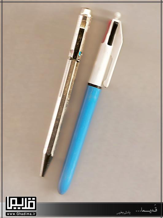 عکس خودکارهای فلزی چهار رنگ قدیمی