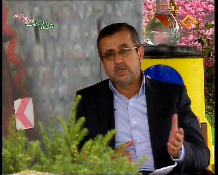 شریعت نژاد در برنامه زنده تلویزیونی شبکه تبرستان