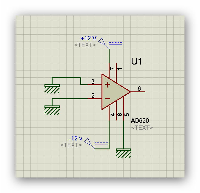 AD620 And Noise on output with grounded input