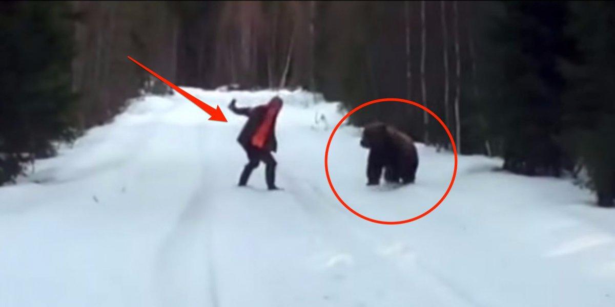 تصویر فراری دادن خرس