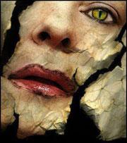 عکس مفهومی از چهره زن