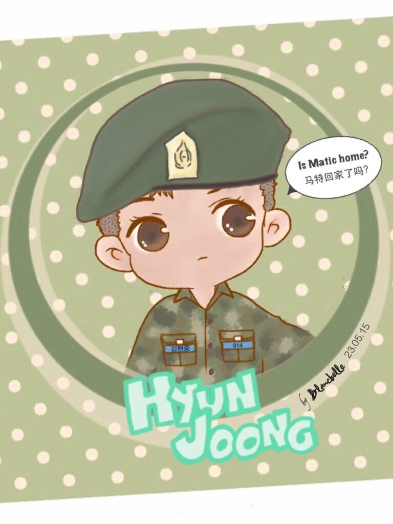 Cute Kim Hyun Joong Soldier