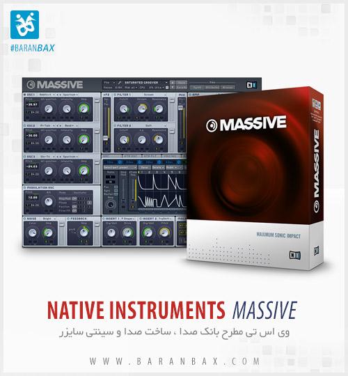 دانلود سینتی سایزر حرفه ای Native Instruments Massive