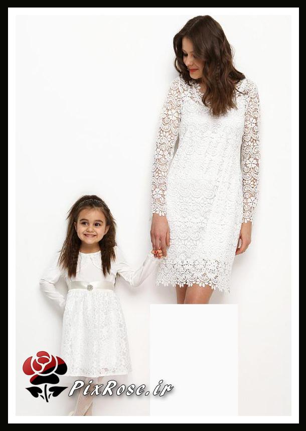 مدل مانتو برای رنگ عسلی ست لباس مادر و دختر