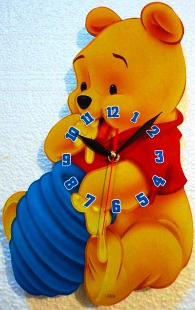 خرید ساعت دیواری اتاق كودك مدل خرس