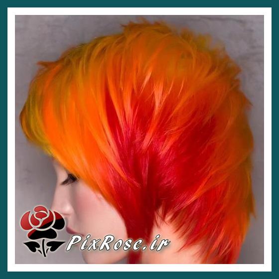 رنگ موی آتیشی