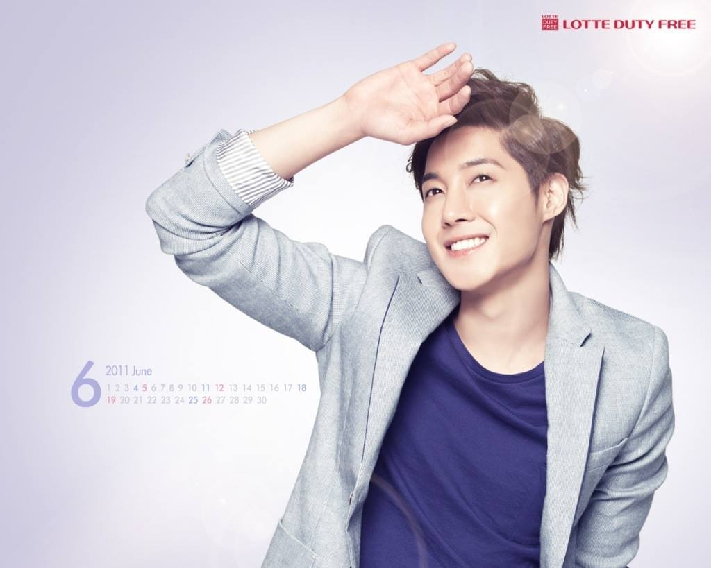 Kim Hyun Joong June Wallpaper Calendars Of Lotte 2011.06 ~ 2014.06