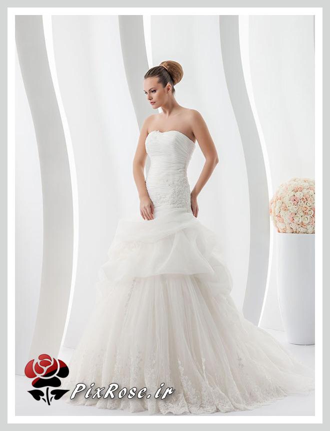 لباس عروس دنباله ار