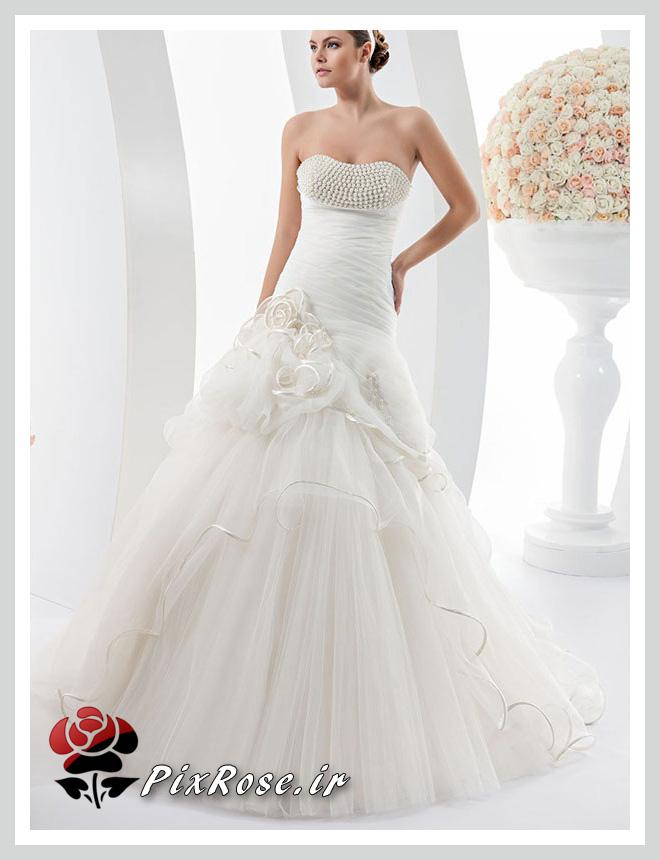 لباس عروس با مروارید